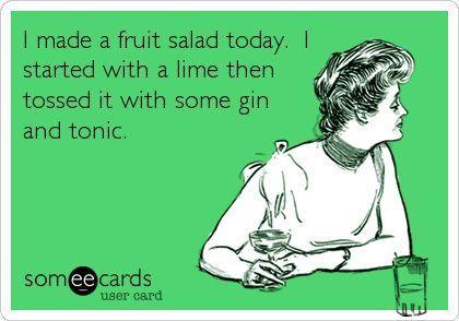 Gin Fruit Salad