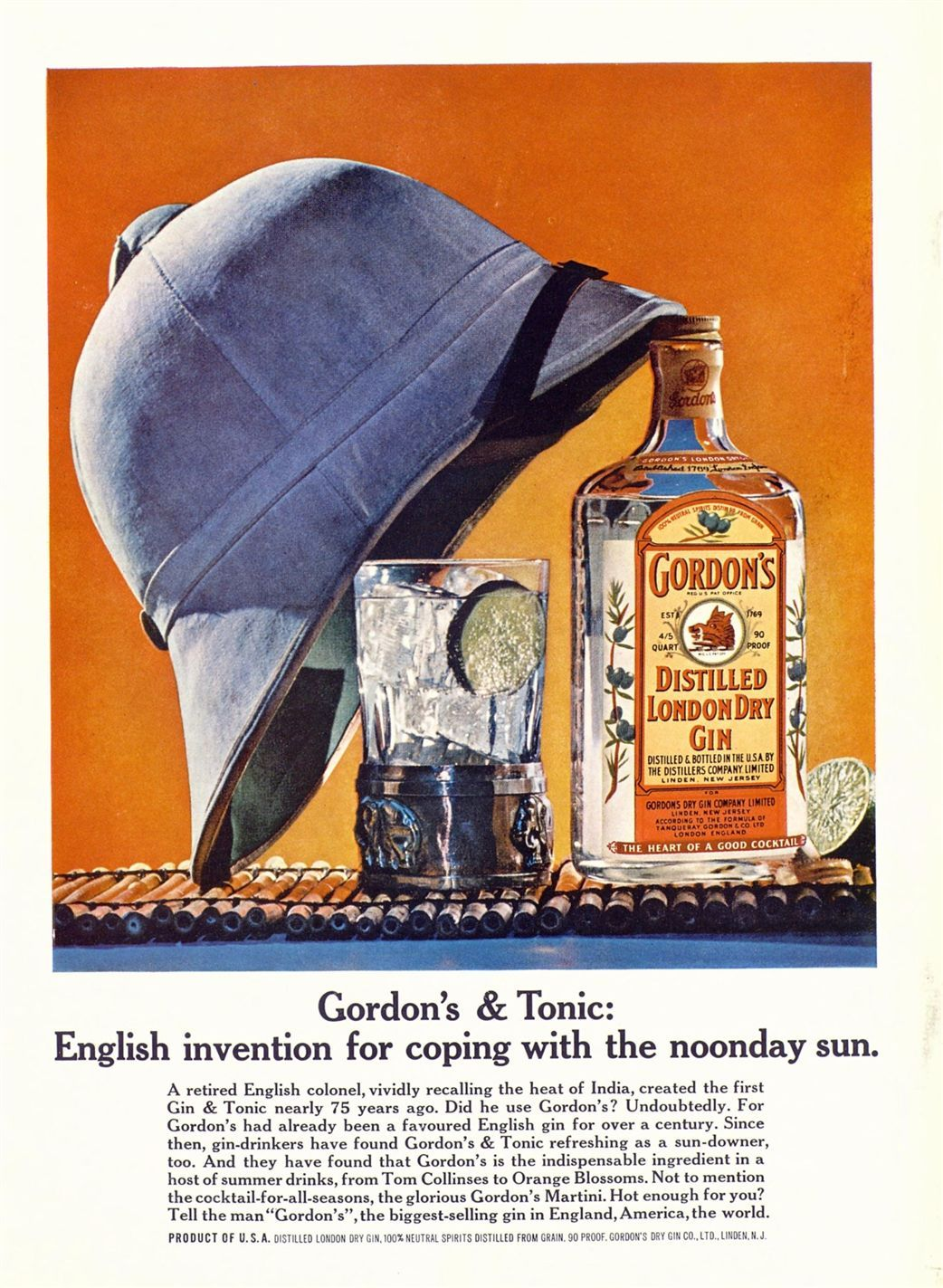 Old gin ad