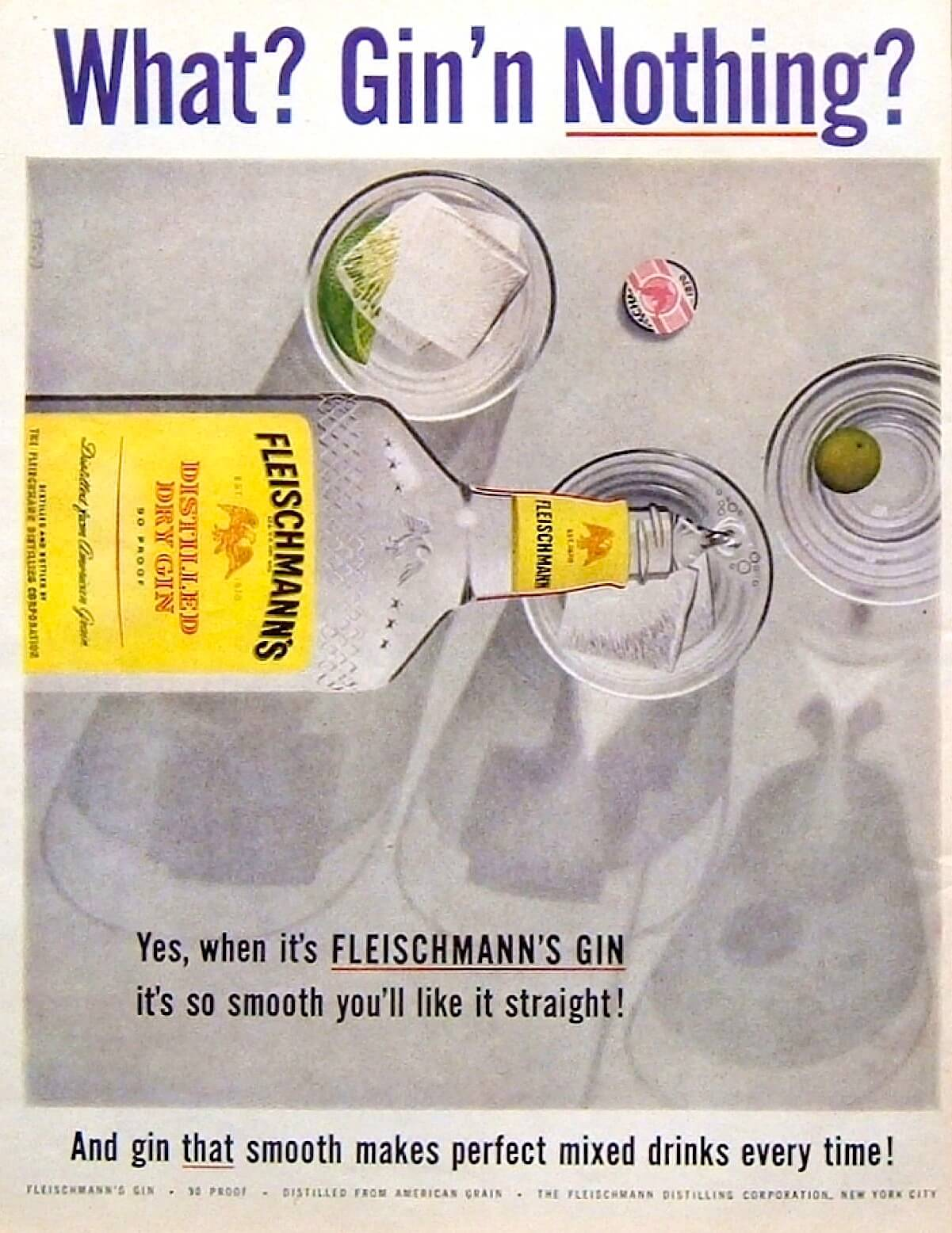 Old gin advert