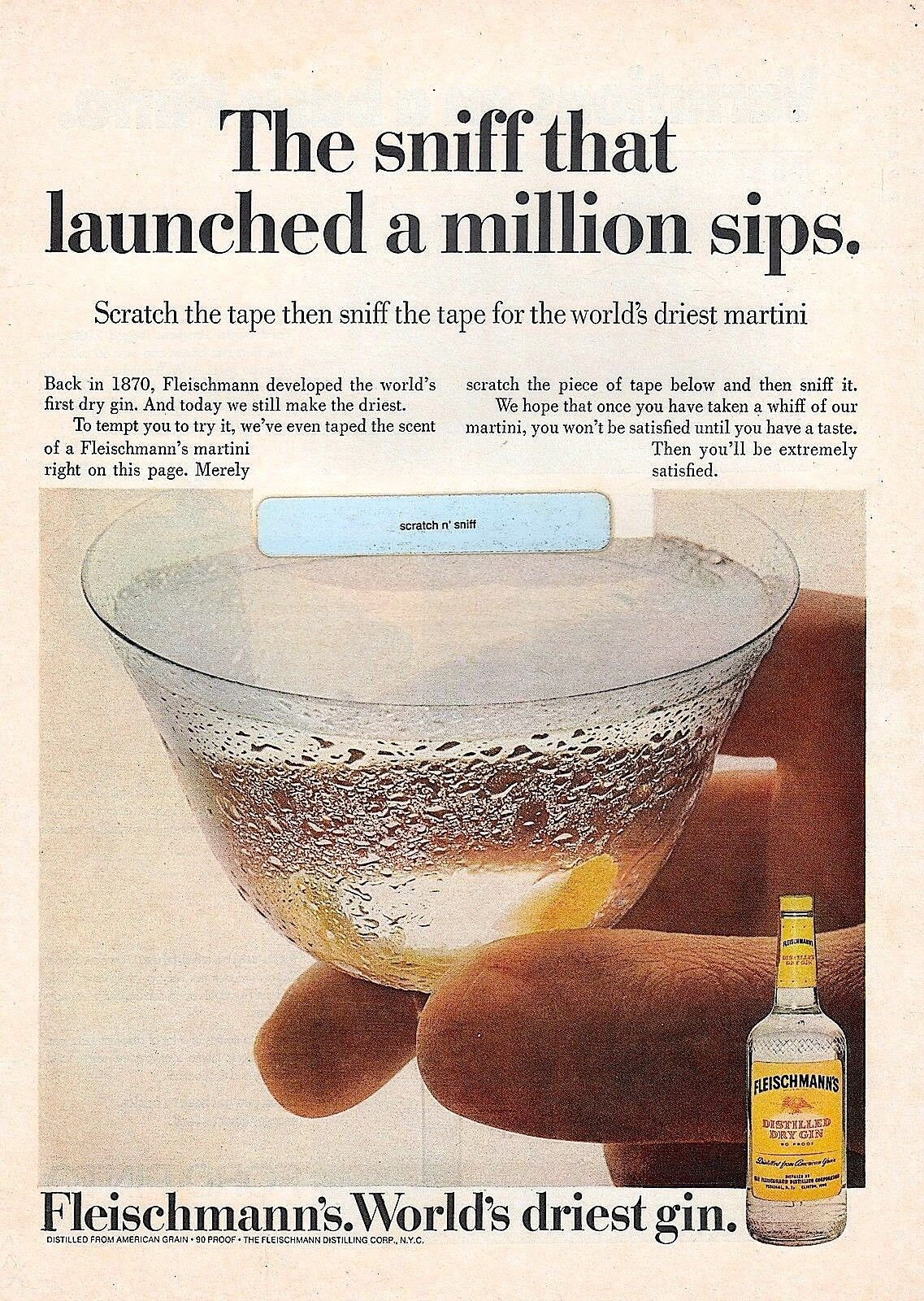 Scratch and Sniff Gin Advert