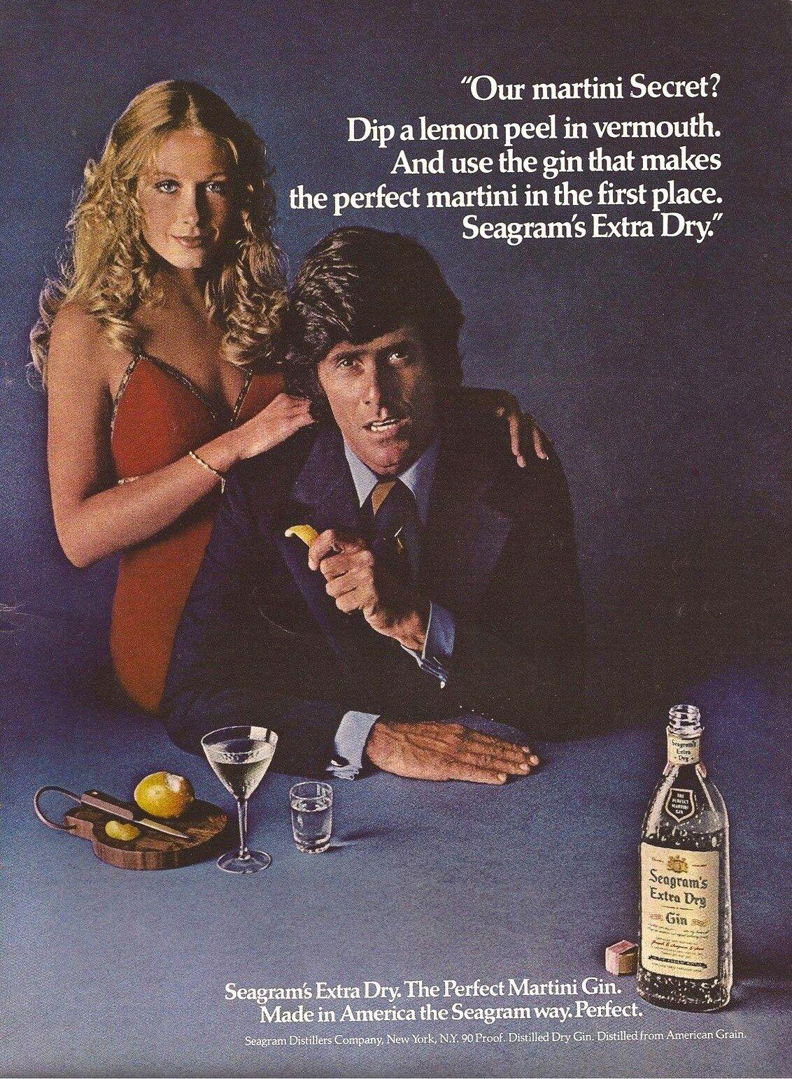 Retro gin advert