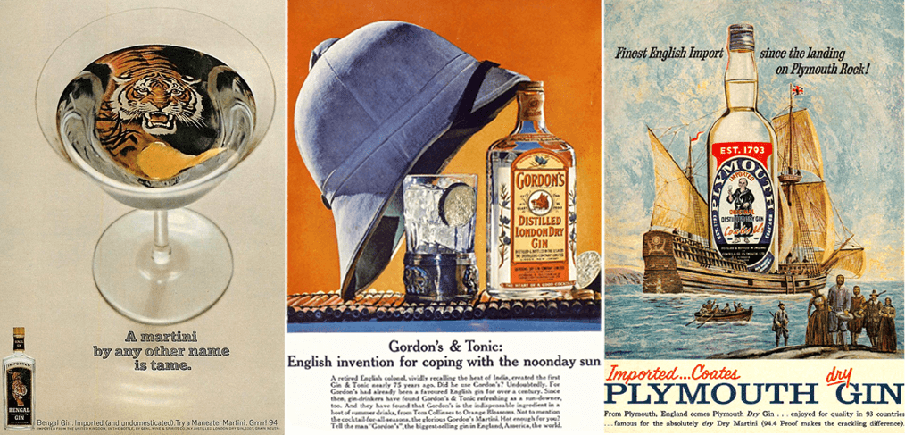 Vintage Gin Adverts