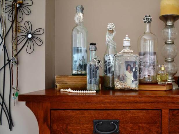 Photo frame bottles