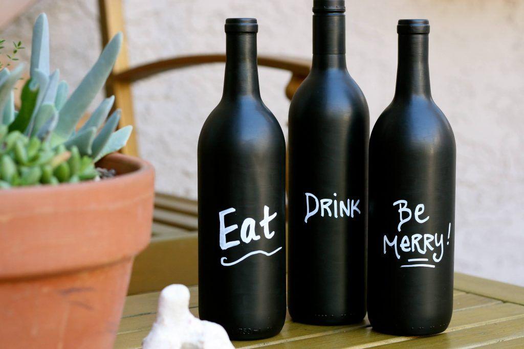 Chalkboard recycled bottle