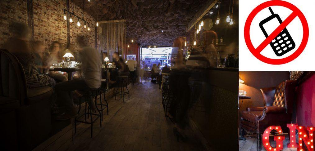 Gin Bar Blocks Mobile Phone Signals