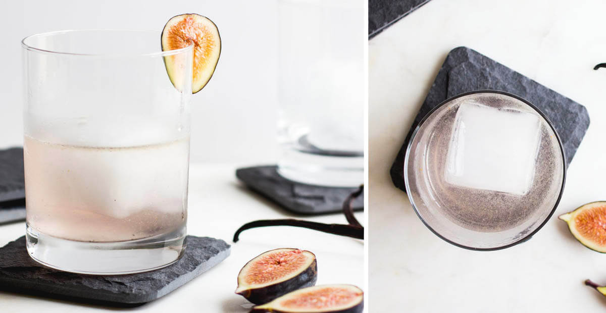 Fig and Vanilla Bean Gin Cocktail