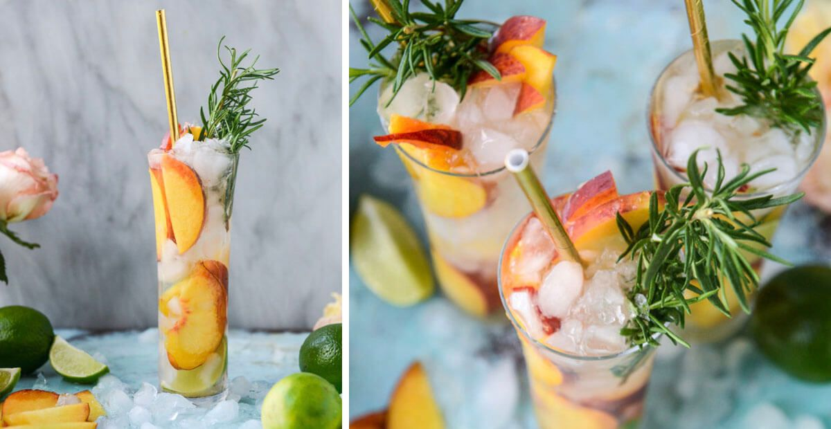 Fresh Peach Gin and Tonic