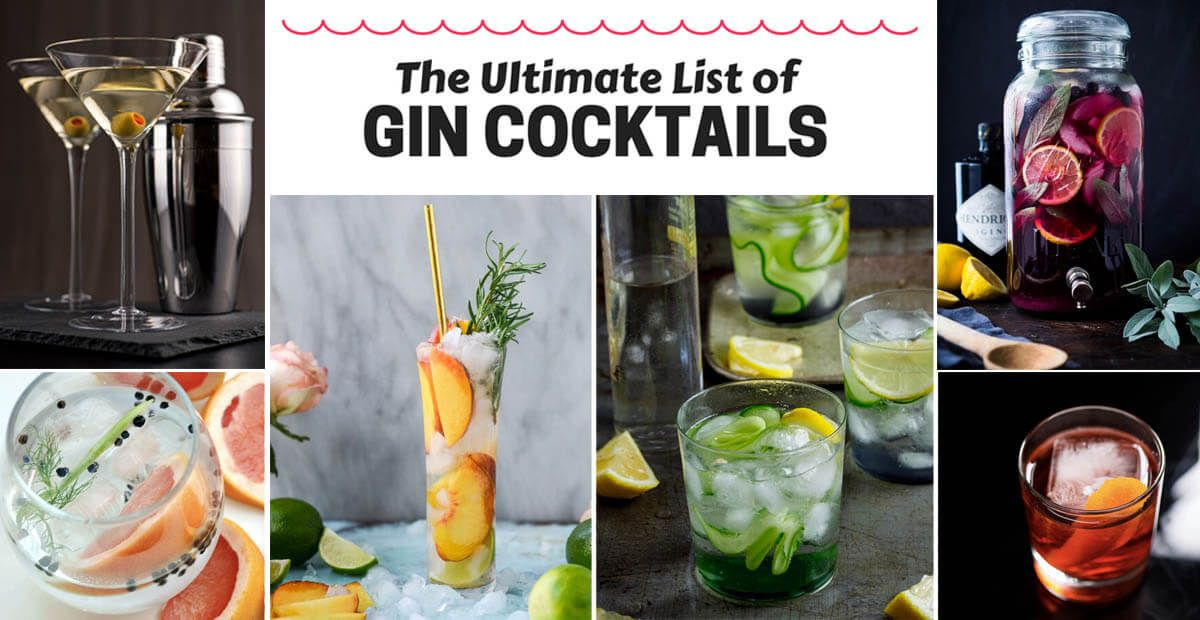gin cocktails the ultimate list of 40 gin based