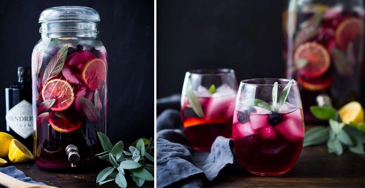 Blueberry & Sage Gin Punch