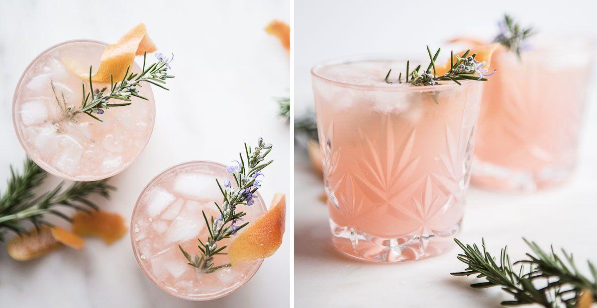 Grapefruit and Cardamom Gin Fizz