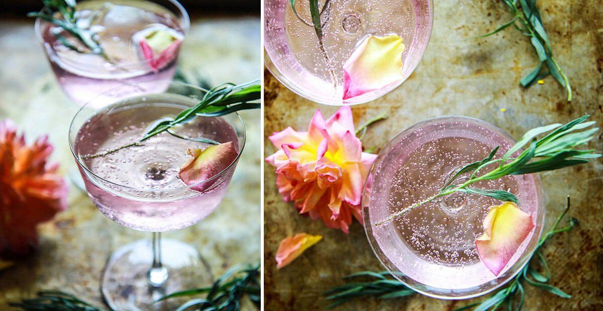 Rosemary and Tarragon Gin Lemonade