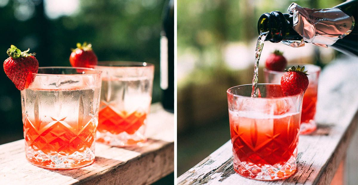 Strawberry, Basil & Pink Peppercorn Negroni