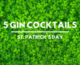 Green Gin Cocktails st patrick's day