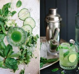 Green Gin and Tonic