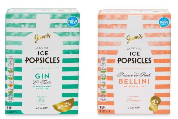 gin tonic ice lolly