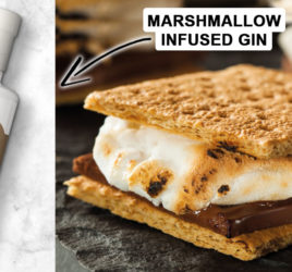 Marshmallow infused gin