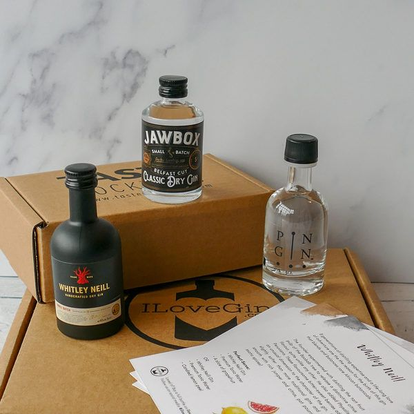 3 Classic Style Gins Tasting Gift Set