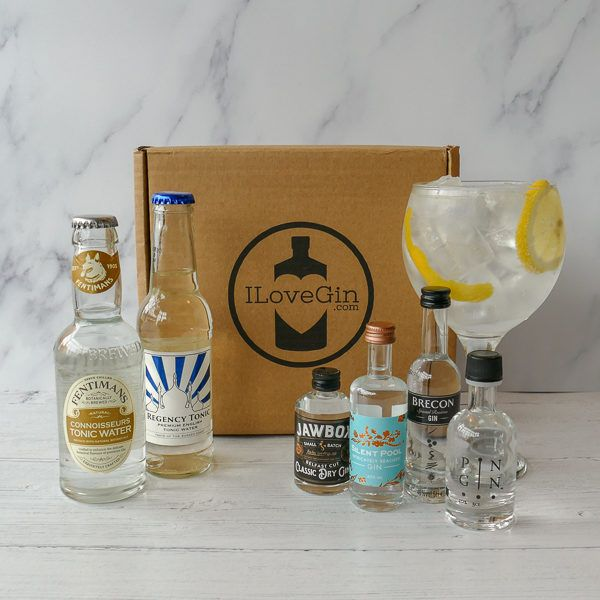 4 Classic Style Gins & Tonics Gift Set