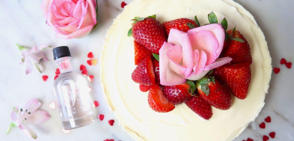 Gin cheesecake Valentines