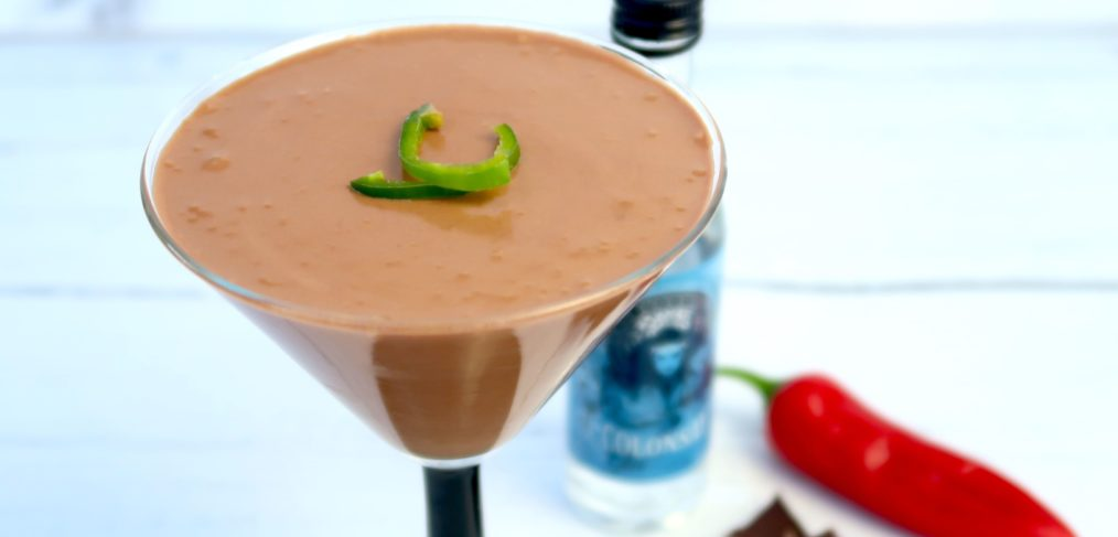 Chilli gin chocolate mousse