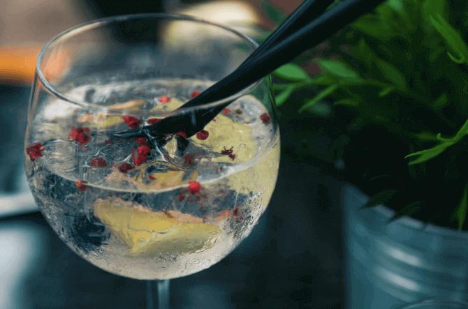 Gin-in-glass